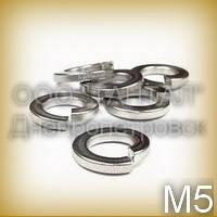 Шайба 5 бронзовая ГОСТ 6402-70 (DIN 7980) никелированная пружинная (гровера) квадратного сечения