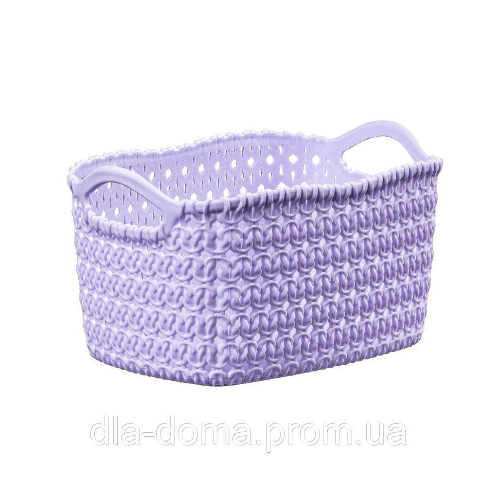 Корзина вязка фиолетовая 24х17х12