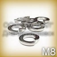 Шайба 8 бронзовая ГОСТ 6402-70 (DIN 7980) никелированная пружинная (гровера) квадратного сечения