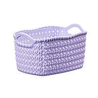 Корзина вязка фиолетовая 28х21х16, фото 1