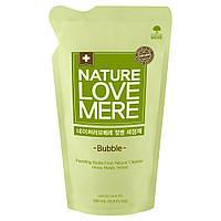 Средство для мытья детских бутылочек NatureLoveMere, сменный блок (пена), 500 мл