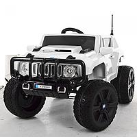 Детский электромобиль джип Hummer M 3570 EBLR-3 кожанное сидение,колеса Ева