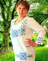 """Блуза """"Вита"""" (синяя и красная) материал: габардин (В.Р.Х.)"""