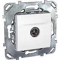 ТВ розетка белая Schneider Electric - Unica (Шнейдер Электрик Уника mgu3.462.18)