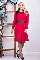 Платье с перфорацией Оrenella р 52,54,56,58, фото 1