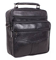 Кожаная мужская сумка через плечо барсетка 24х22х10см
