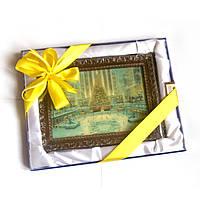 Шоколадный подарок женщине на Новый год. Картина из шоколада, фото 1