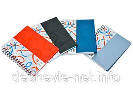 Тетрадь пластиковая на спирали, 120 листов, 5 разделителей, клетка синяя