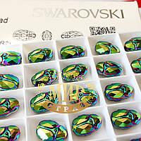 Бусина Сваровски 5728 Scarabaeus Green 12х8,5мм *1шт