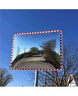 Сферическое дорожное зеркало (прямоугольное, 600х800)