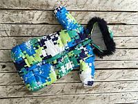 Зимний комбинезон для новорожденного Дутик Пазлы