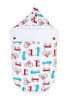 Зимний конверт кокон для новорожденного Велосипеды