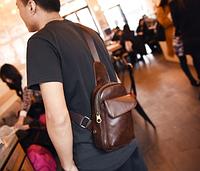 Мужская кожаная сумка. Модель 61244, фото 8