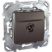 ТВ розетка графитSchneider Electric - Unica (Шнейдер Электрик Уника mgu3.462.12)
