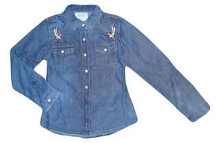 Рубашка джинсовая для девочек ,Seagull размеры 134-164 р, арт. CSQ-89881
