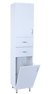 Шкаф пенал для ванной с корзиной П 03К 35