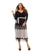 Красивое женское платье больших размеров САНТИ , фото 1