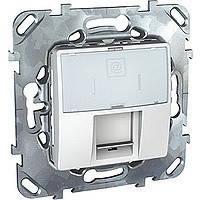 Розетка компьютерная не экранированная белая Schneider Electric - Unica (Шнейдер Электрик Уника mgu3.471.18)