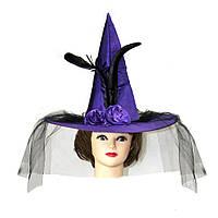 Карнавальная шляпа Ведьмы атласная