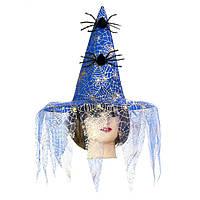 Карнавальная шляпа Ведьмы с пауками