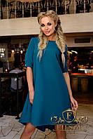 Женское осеннее платье трапеция с пуговицами сзади 4 цвета