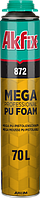 Пена монтажная akfix 872  SUPER MEGA 70л PRO