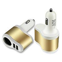 Автомобильное Зарядное Устройство от Прикуривателя 2 USB Car Charger