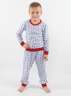 Детская хлопковая пижама для мальчика РВ 013, рр. 104-128, ВОЛ (Cornett)