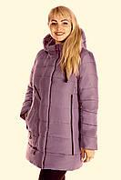 """Модная зимняя женская куртка с капюшоном. """"Пудра"""""""