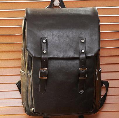 Мужской кожаный рюкзак. Модель 61246