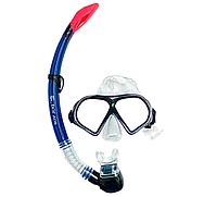 Набор для подводного плавания (маска и трубка) М9510Р+SN52 (синий)