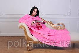 Плед с рукавами из микрофибры Розовый 200*150 см