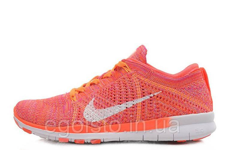 1119b73f Кроссовки женские беговые Nike Free Flyknit 5.0 Knit Vamp (найк) персиковые  - Интернет-