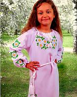"""Детское вышитое платье """"Ромашки"""" материал: габардин (В.Р.Х.)"""