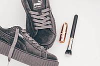 Кроссовки женские Puma x Rihanna Creeper Velvet Grey (пума)  38