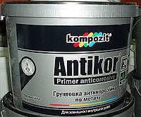 Грунтовка ANTIKOR Kompozit для металла водорастворимая красно-коричневая, 15кг
