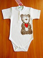 Боди для новорожденного мальчика, боди на короткий рукав, рост 62, 68, 74, 80 см. Производитель Украина