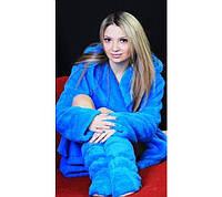 Комплект: Махровый халат + сапожки, фото 1