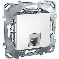 Розетка телефонная белая Schneider Electric - Unica (Шнейдер Электрик Уника mgu3.492.18)