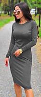 """Платье миди с рукавами Серое, Черное """"Dress code"""""""