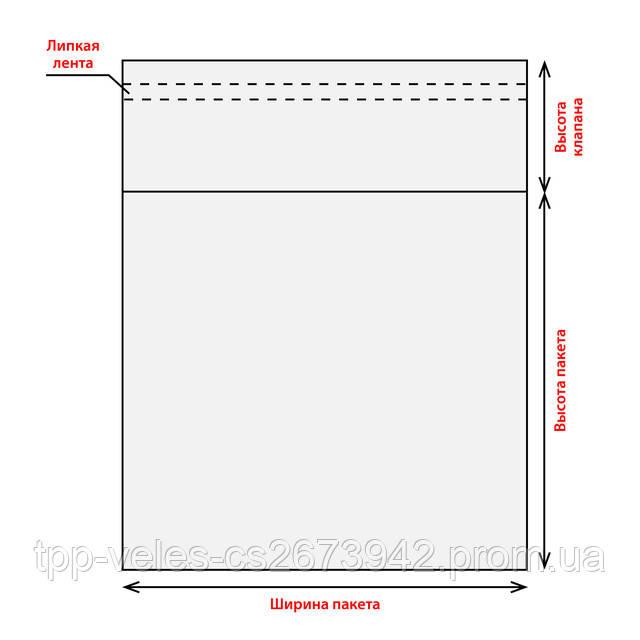 Схема полипропиленового пакета