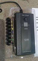 Зарядка для ноутбуков (сеть и авто) с экраном+ USB 12/ 220V 8 насадок