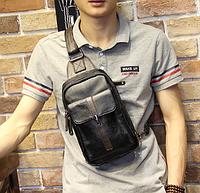 Мужская кожаная сумка. Модель 61249, фото 3