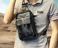 Мужская кожаная сумка. Модель 61249, фото 4