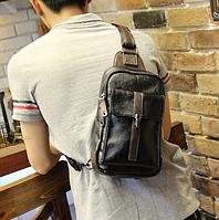 Мужская кожаная сумка. Модель 61249, фото 5
