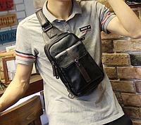 Мужская кожаная сумка. Модель 61249, фото 6