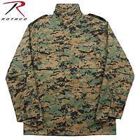 Куртка М-65 с подстежкой цвет АТ - диджитал вудланд (ROTCHO) США