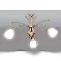 Люстра потолочная (люстра подвесная) белая с золотом 3*E27,Buko