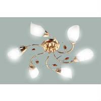 Люстра потолочная (люстра подвесная) белая с золотом 6*E27,Buko