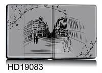 "Чехол для iPad2/3/4 гламур HQ-Tech 19083 ""Гравюра город"""